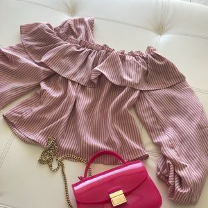 Missguided Tops - ☀️SOLD ☀️New Pink drill top💋